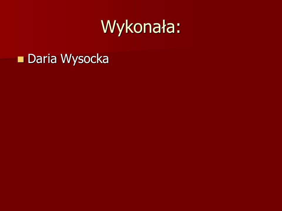 Wykonała: Daria Wysocka