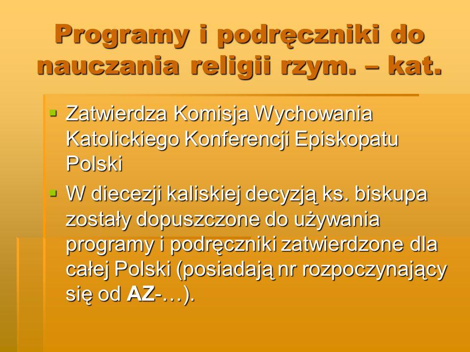 Programy i podręczniki do nauczania religii rzym. – kat.