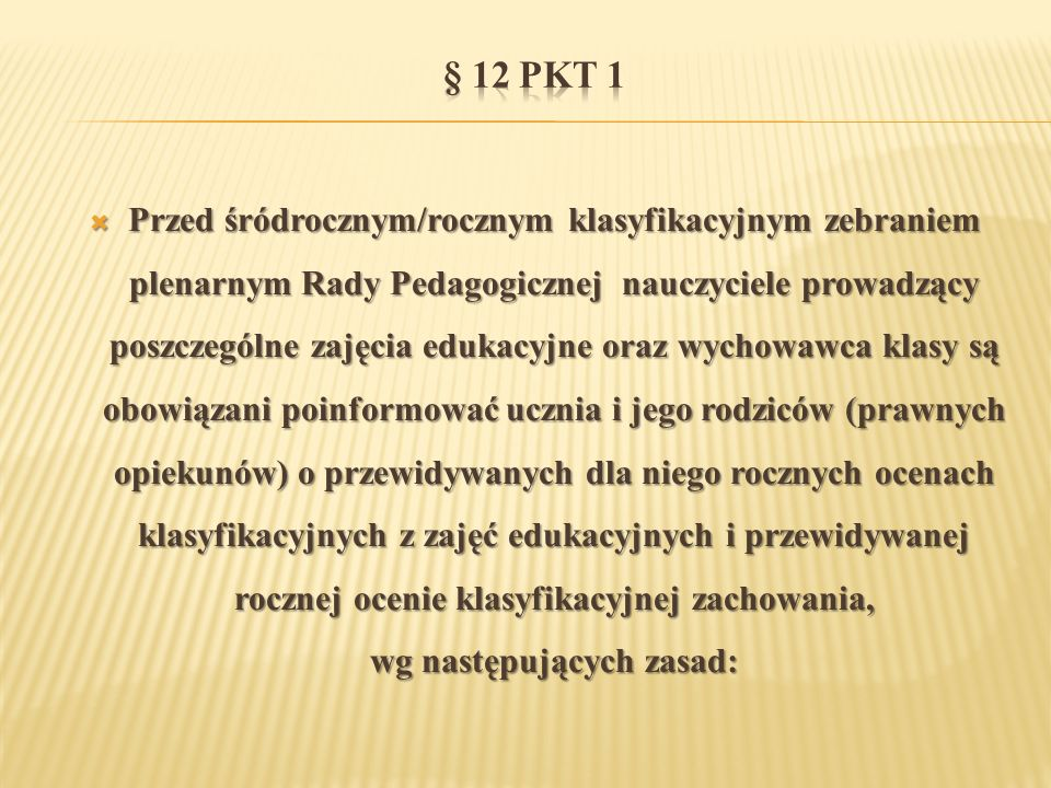 § 12 pkt 1