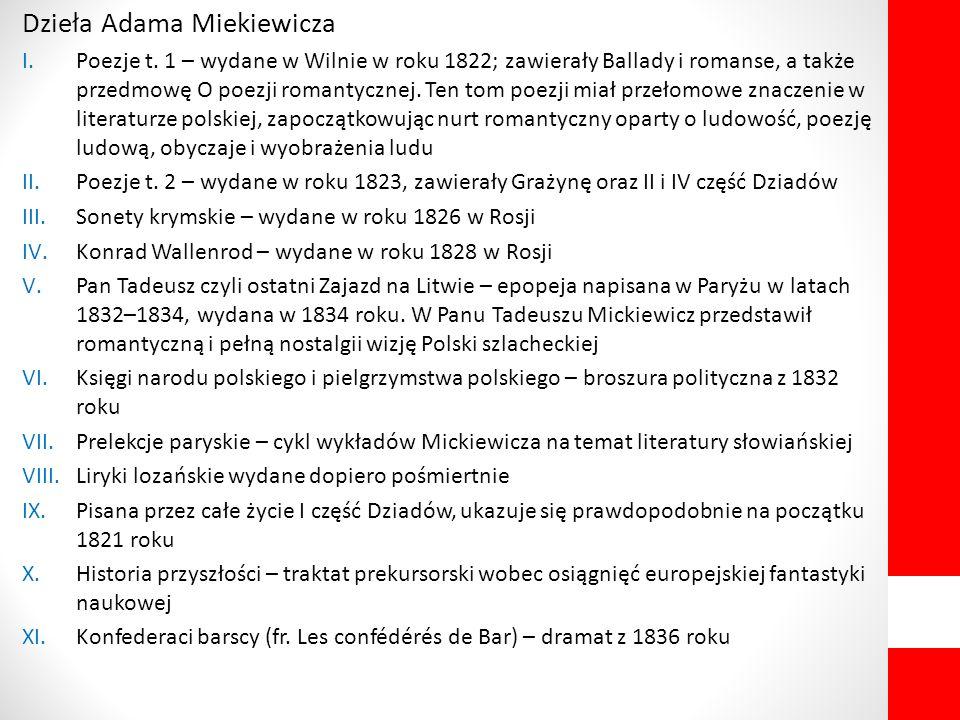 Dzieła Adama Miekiewicza