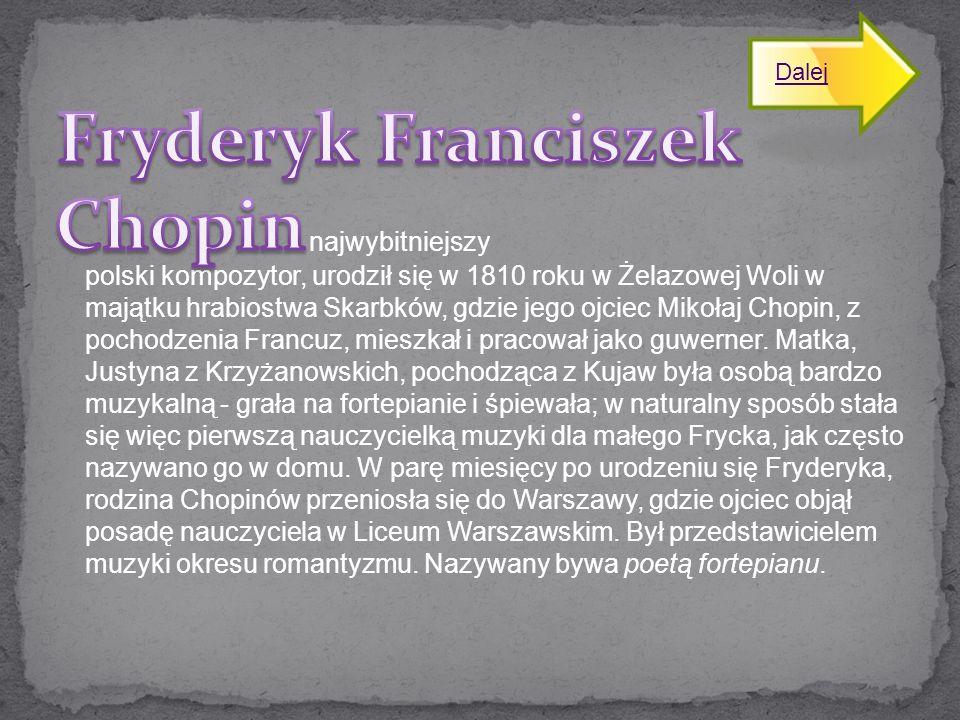 Fryderyk Franciszek Chopin najwybitniejszy