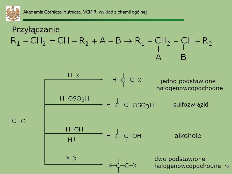 Przyłączanie alkohole jedno podstawione halogenowcopochodne