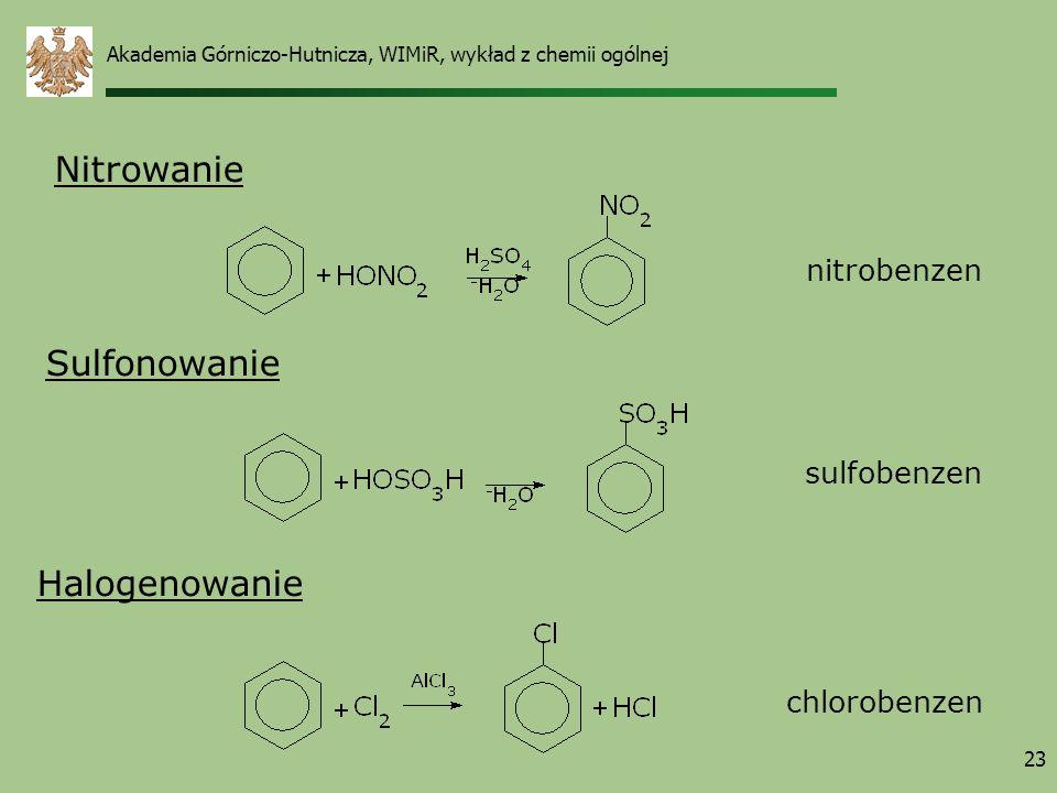 Nitrowanie Sulfonowanie Halogenowanie nitrobenzen sulfobenzen
