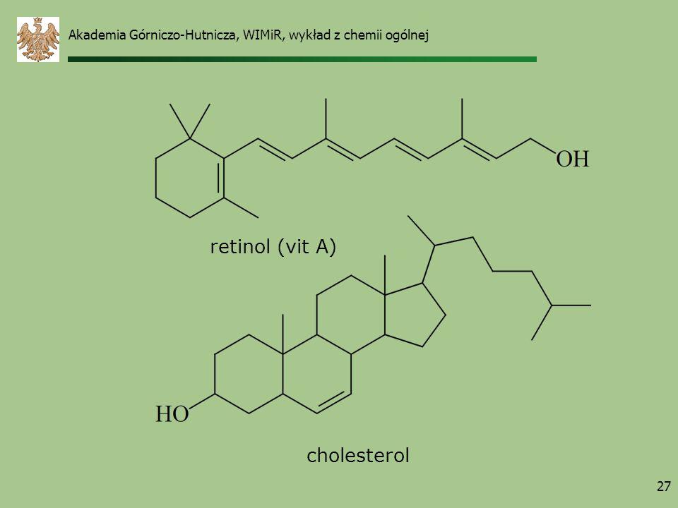 retinol (vit A) cholesterol