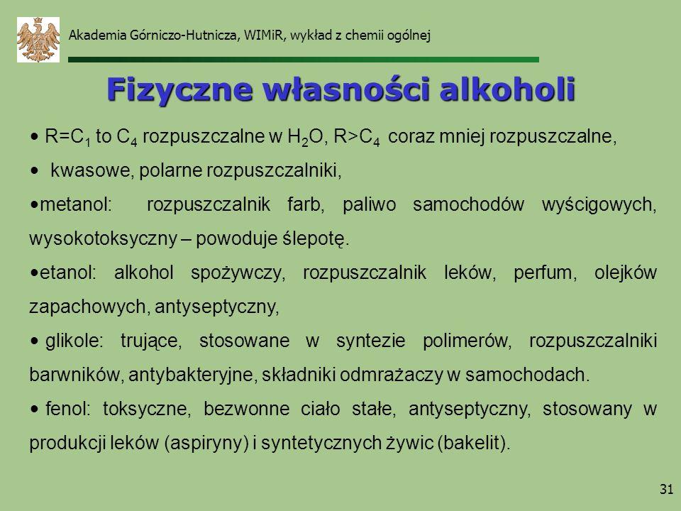Fizyczne własności alkoholi