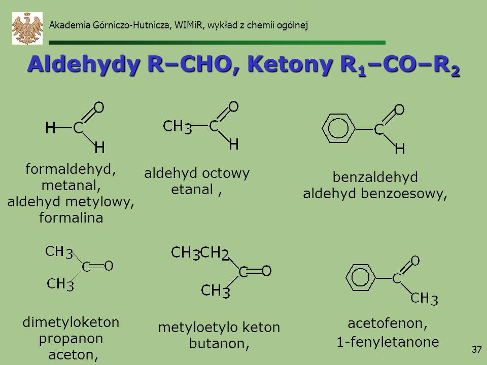 Aldehydy R–CHO, Ketony R1–CO–R2