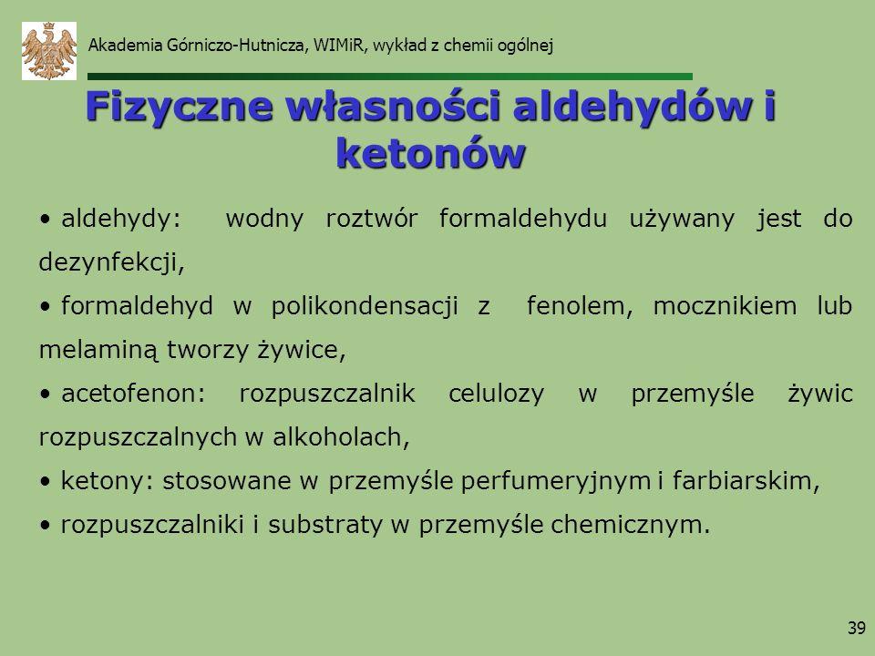Fizyczne własności aldehydów i ketonów