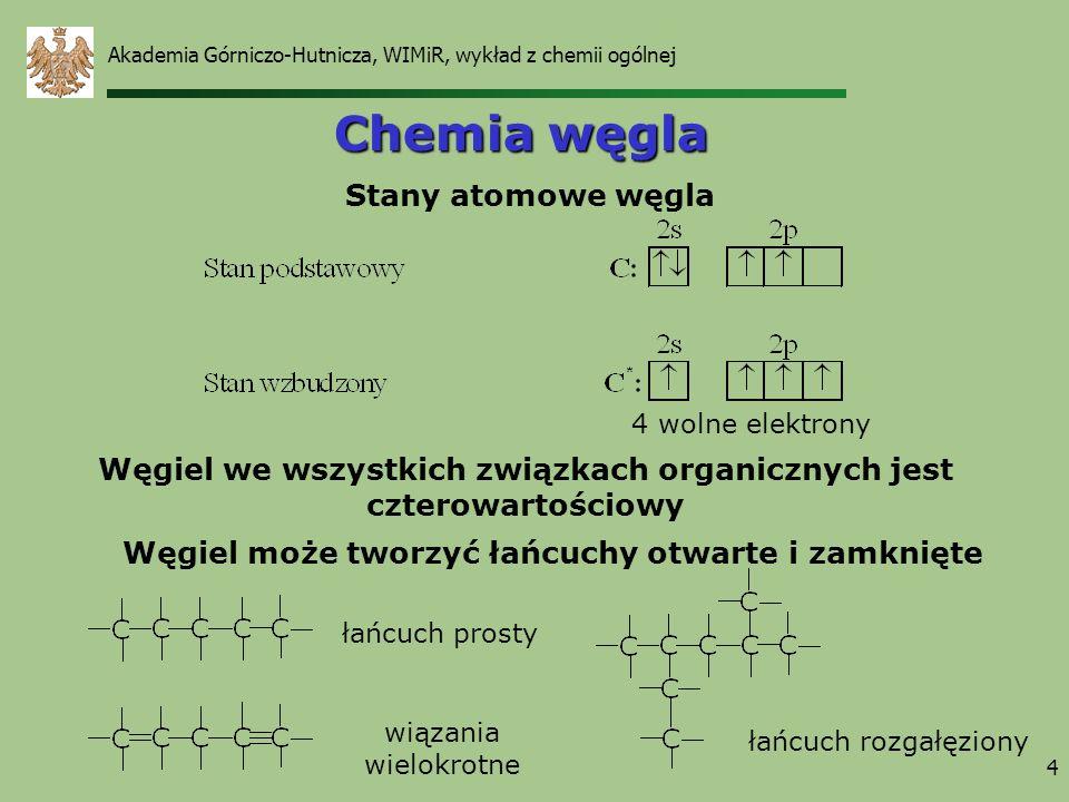Chemia węgla Stany atomowe węgla