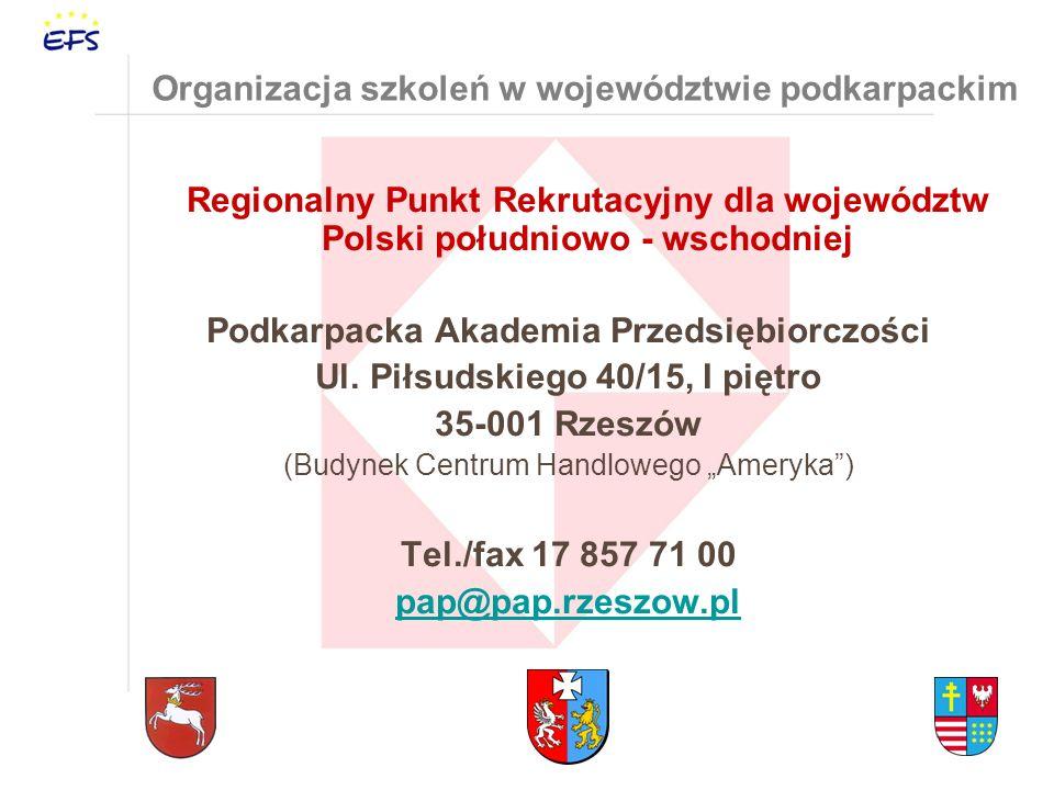Organizacja szkoleń w województwie podkarpackim