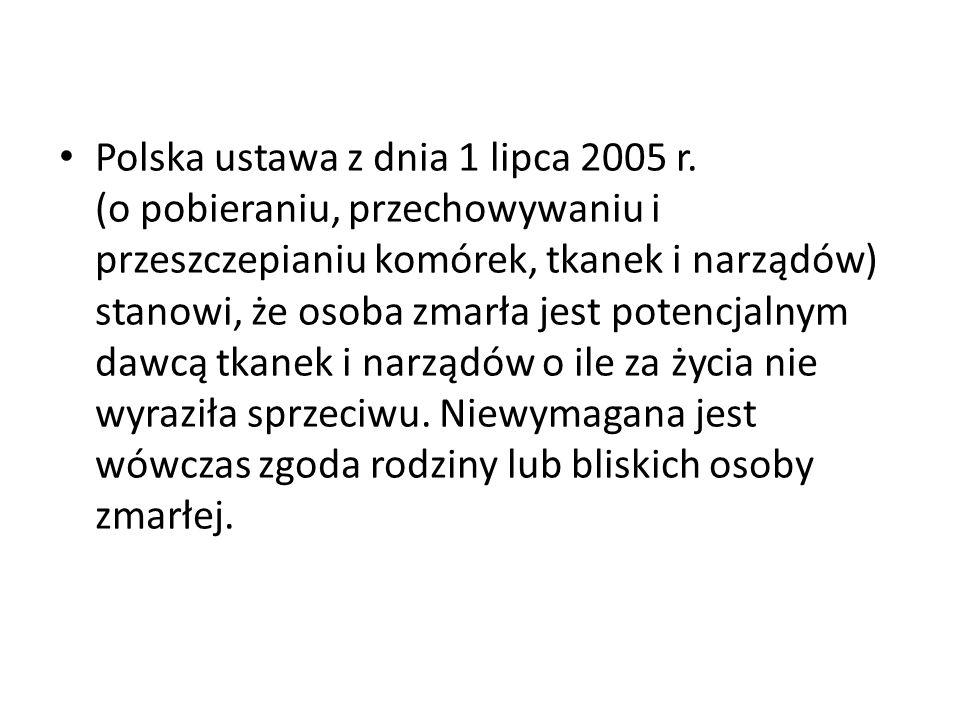Polska ustawa z dnia 1 lipca 2005 r