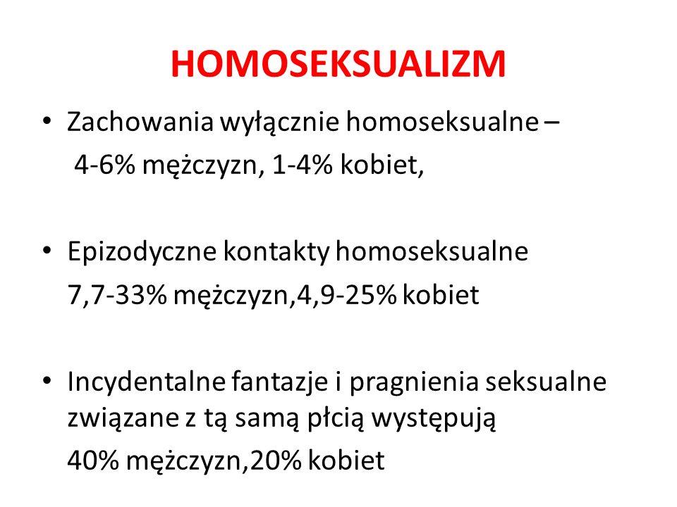 HOMOSEKSUALIZM Zachowania wyłącznie homoseksualne –