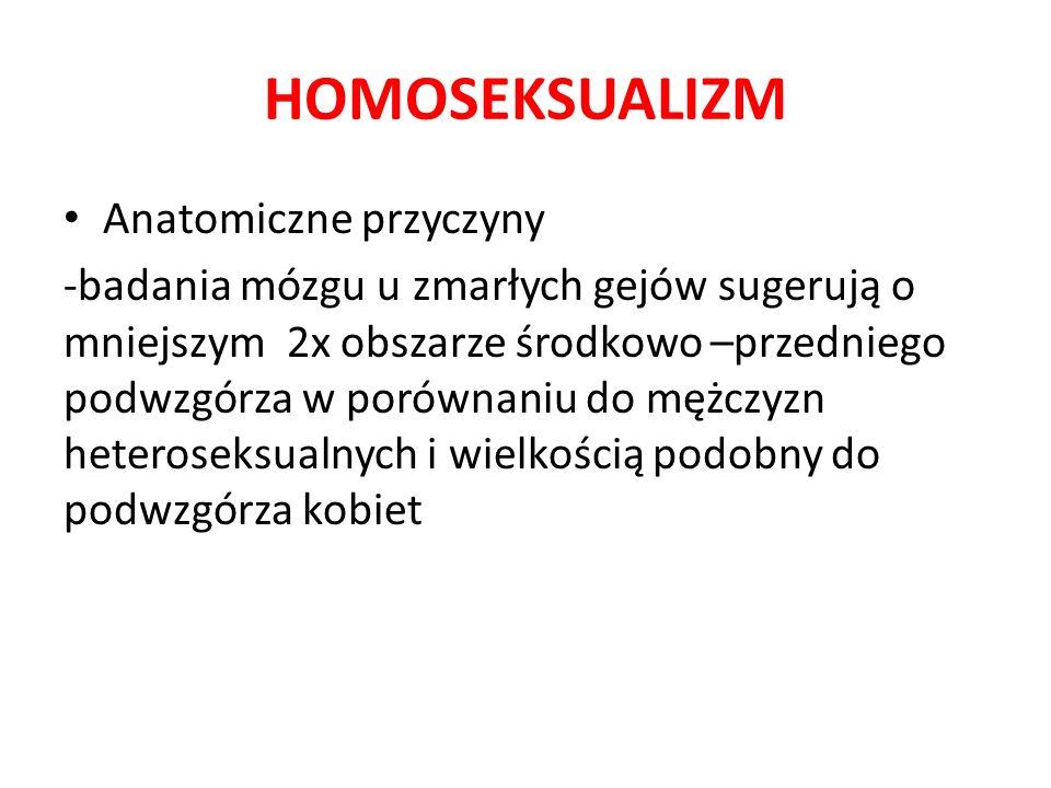 HOMOSEKSUALIZM Anatomiczne przyczyny