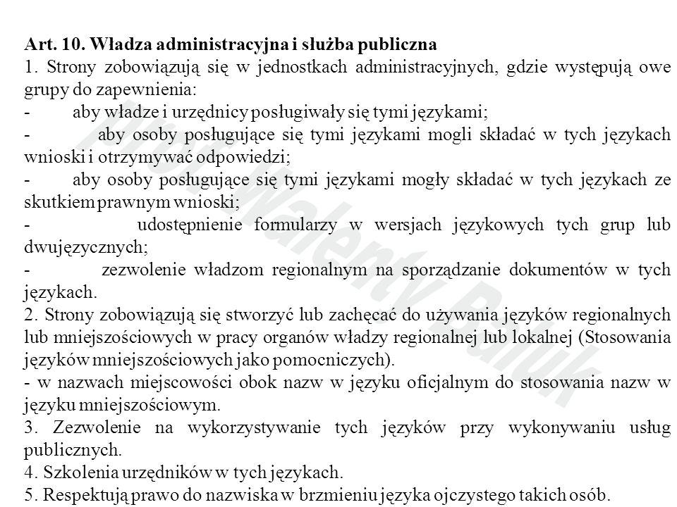Art. 10. Władza administracyjna i służba publiczna