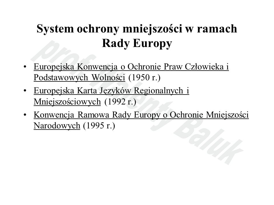System ochrony mniejszości w ramach Rady Europy