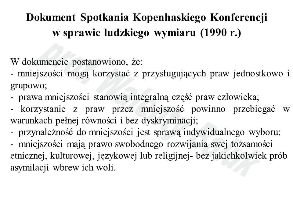 Dokument Spotkania Kopenhaskiego Konferencji w sprawie ludzkiego wymiaru (1990 r.)