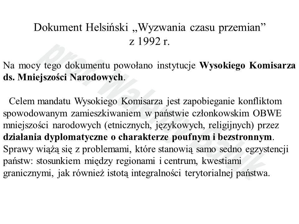 """Dokument Helsiński """"Wyzwania czasu przemian z 1992 r."""