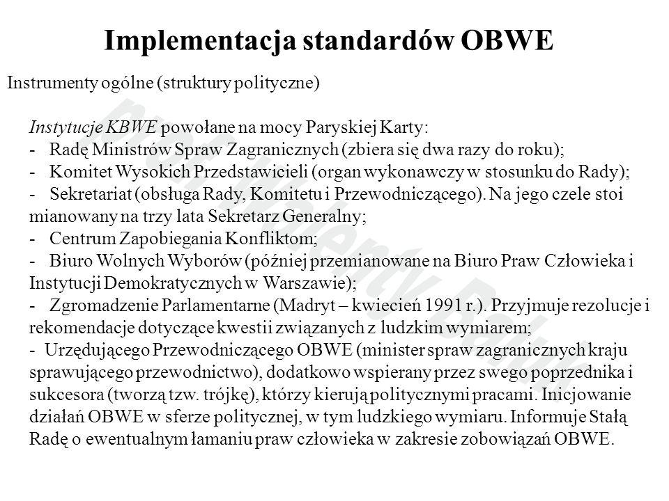 Implementacja standardów OBWE