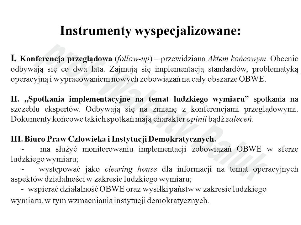 Instrumenty wyspecjalizowane: