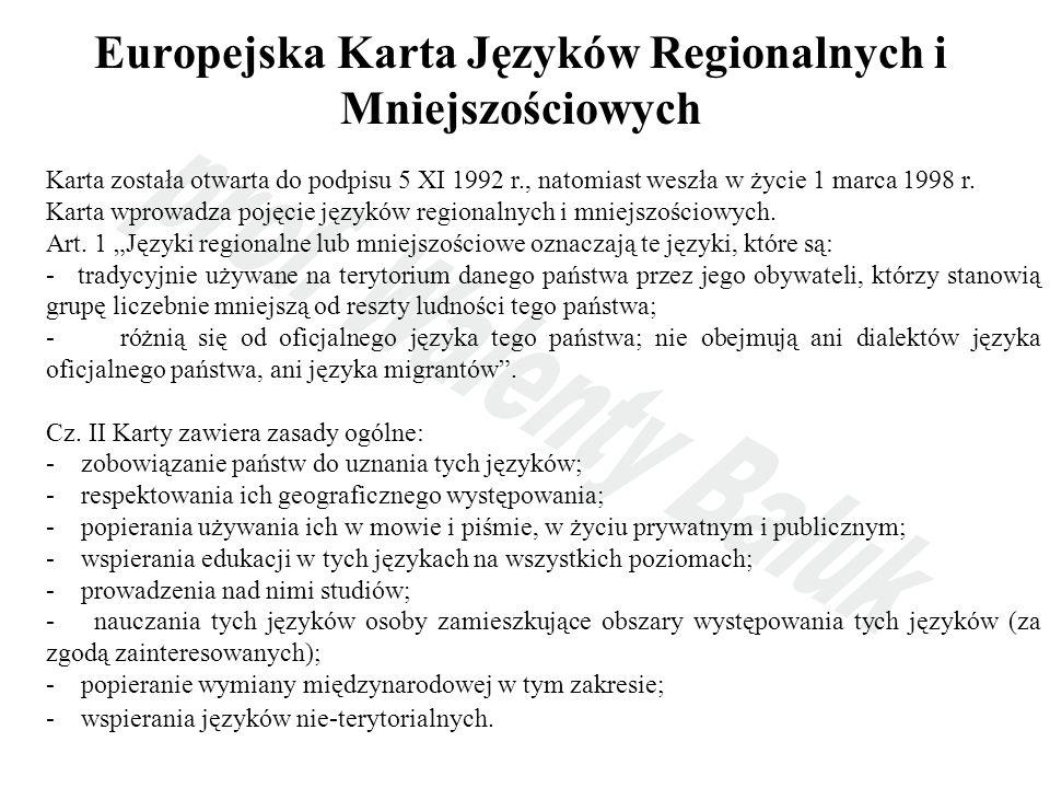 Europejska Karta Języków Regionalnych i Mniejszościowych