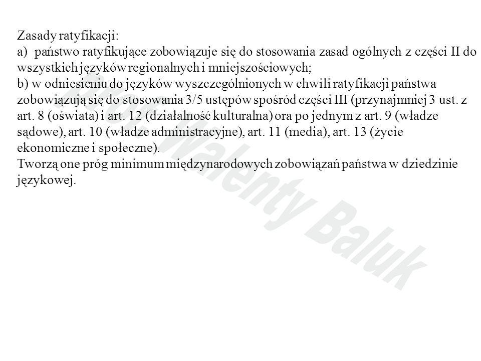 Zasady ratyfikacji: