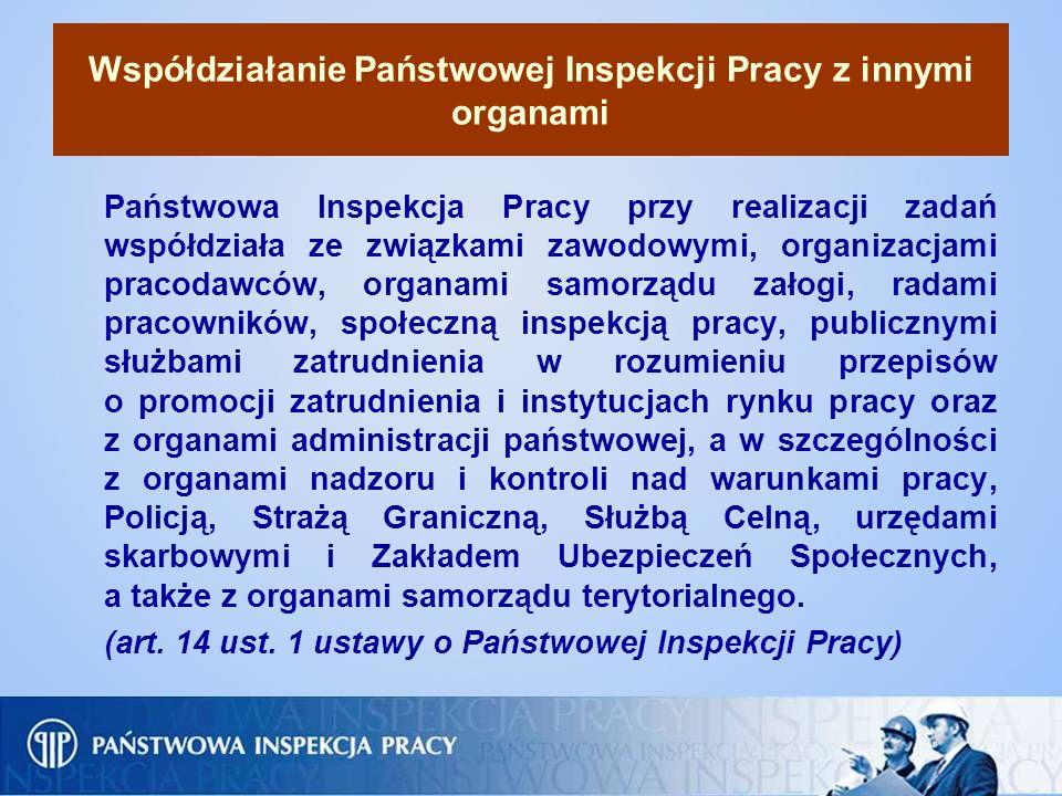 Współdziałanie Państwowej Inspekcji Pracy z innymi organami