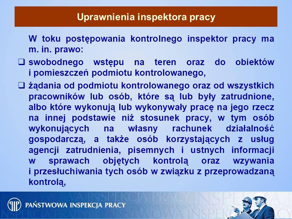 Uprawnienia inspektora pracy