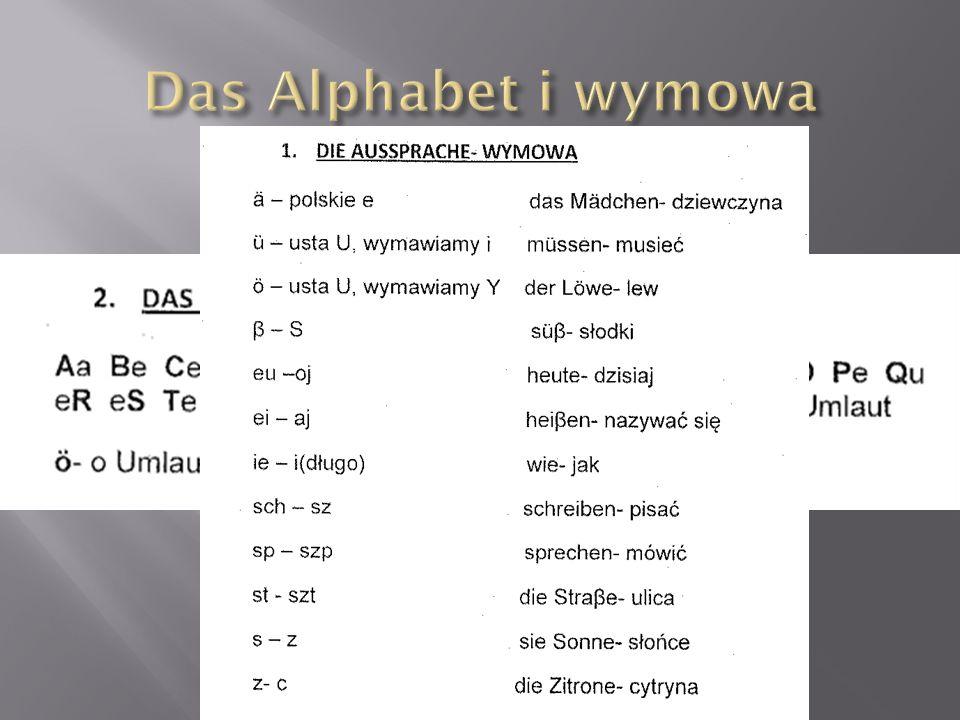 Das Alphabet i wymowa