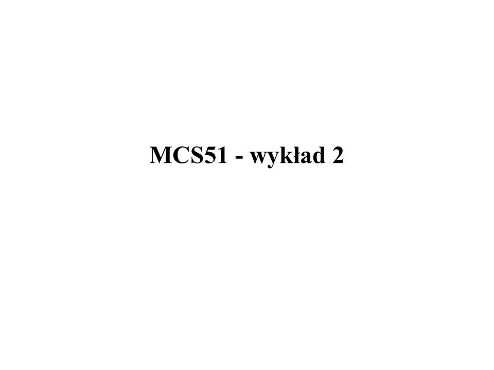 MCS51 - wykład 2