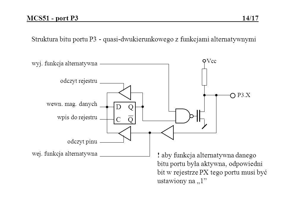 MCS51 - port P3 14/17