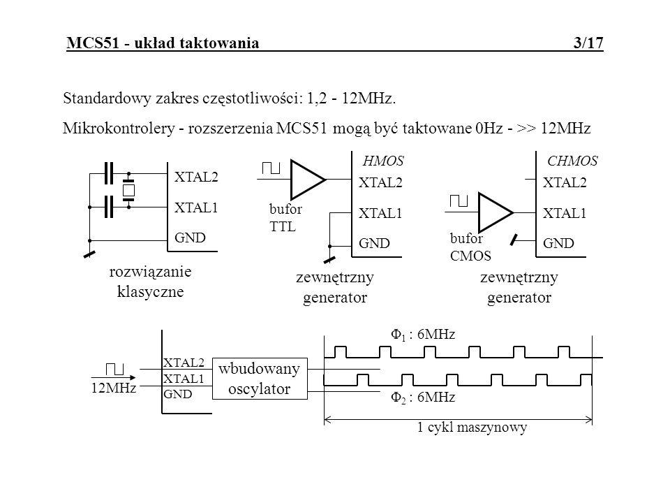 MCS51 - układ taktowania 3/17