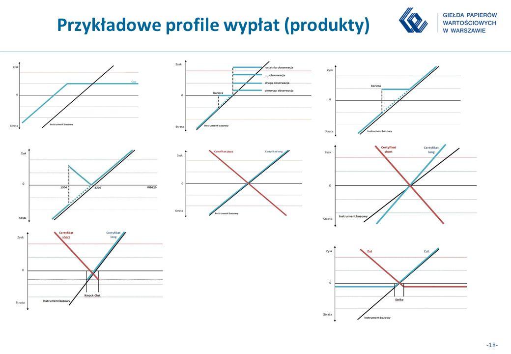 Przykładowe profile wypłat (produkty)