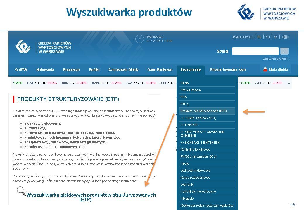 Wyszukiwarka produktów