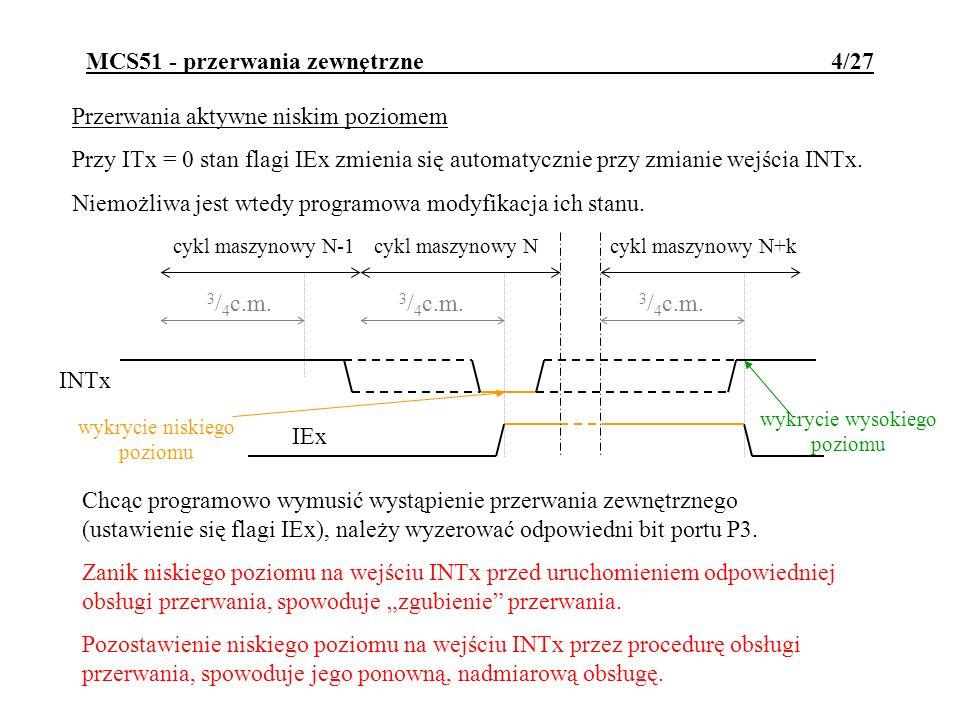 MCS51 - przerwania zewnętrzne 4/27