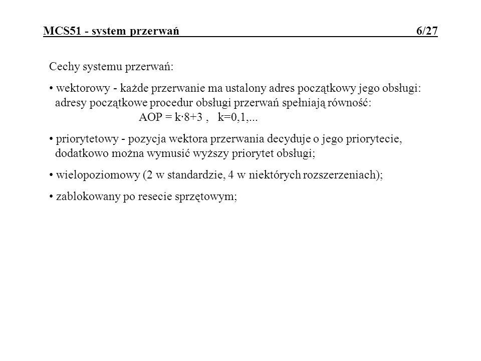 MCS51 - system przerwań 6/27