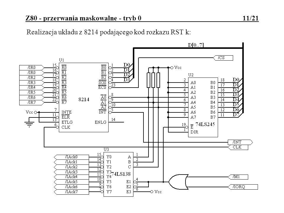 Z80 - przerwania maskowalne - tryb 0 11/21