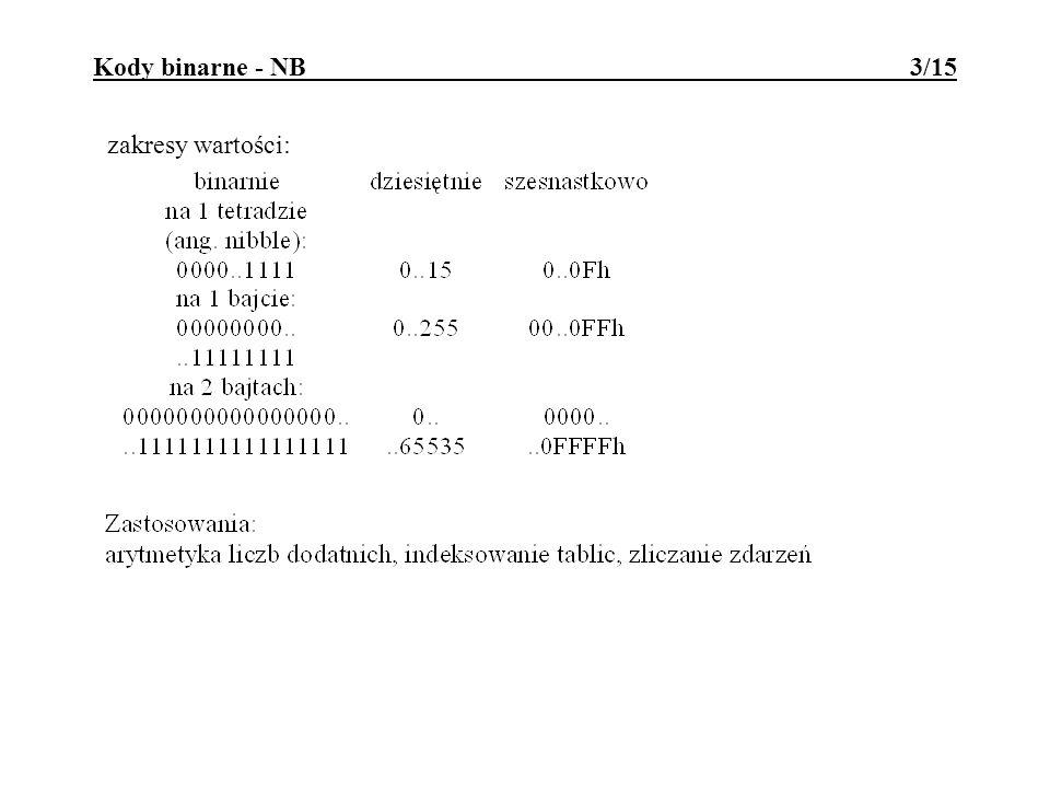 Kody binarne - NB 3/15