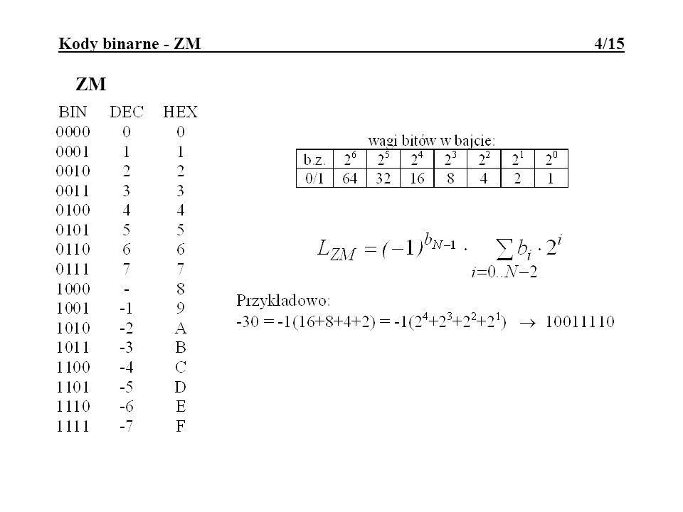 Kody binarne - ZM 4/15