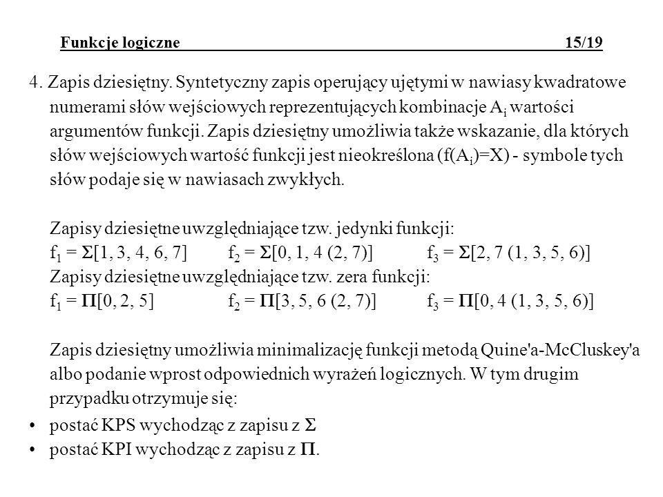 postać KPS wychodząc z zapisu z  postać KPI wychodząc z zapisu z .
