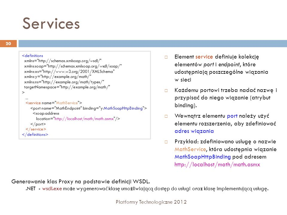 Services<definitions. xmlns= http://schemas.xmlsoap.org/wsdl/ xmlns:soap= http://schemas.xmlsoap.org/wsdl/soap/