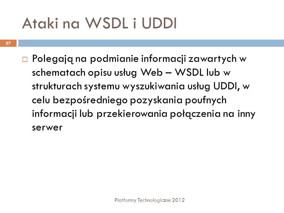 Ataki na WSDL i UDDI