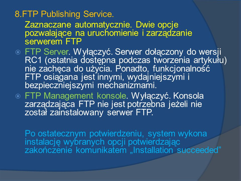 8.FTP Publishing Service.