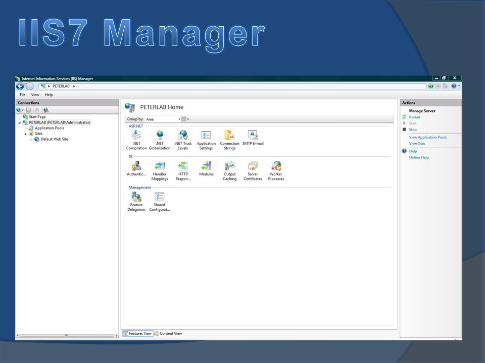 IIS7 Manager