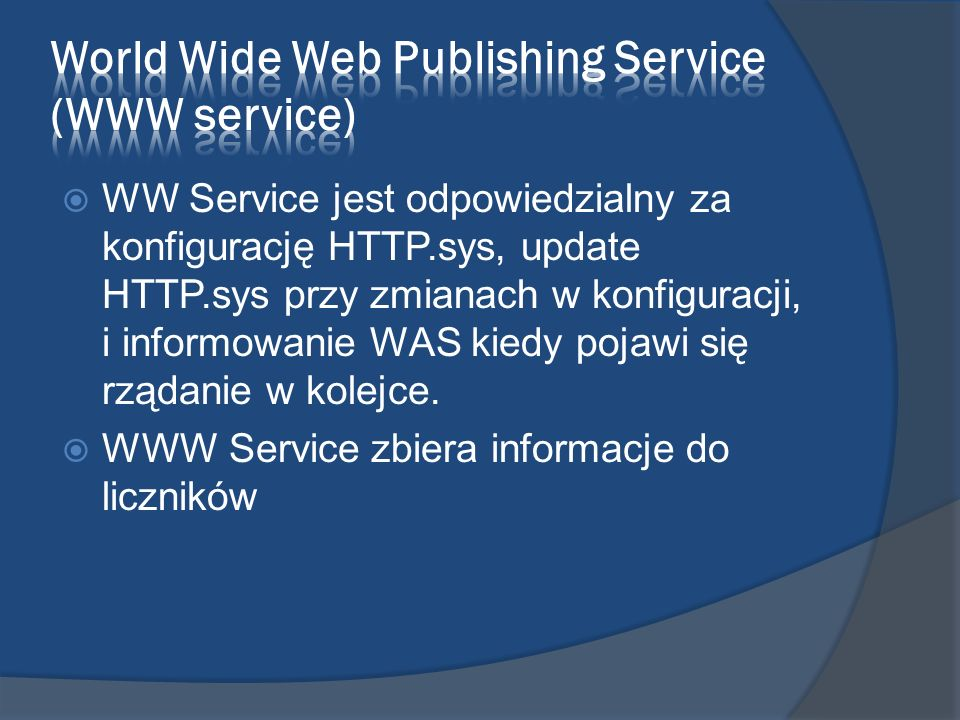 World Wide Web Publishing Service (WWW service)