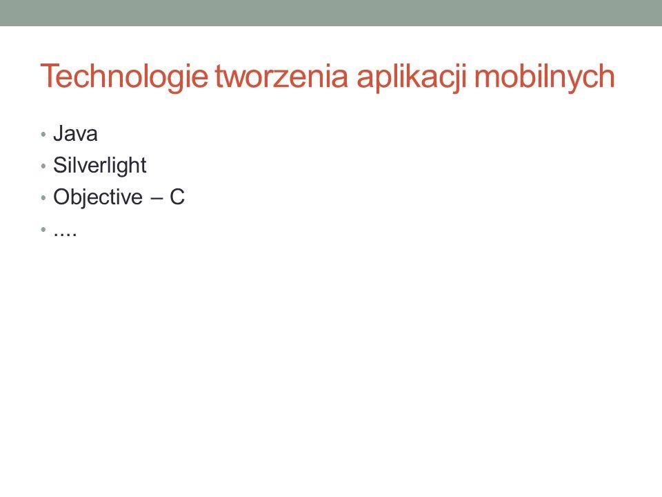 Technologie tworzenia aplikacji mobilnych