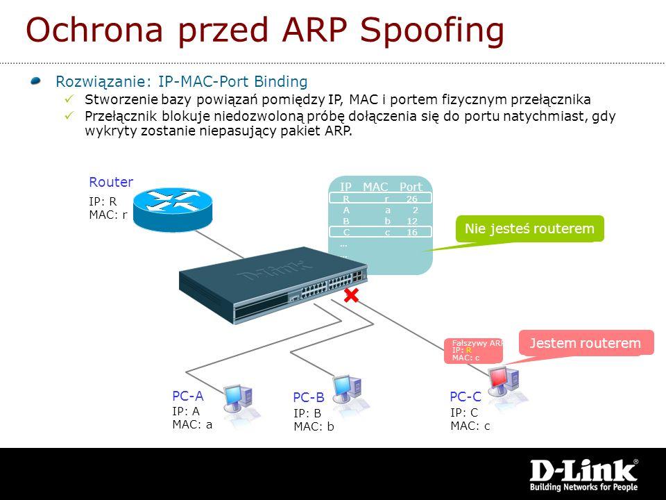 Ochrona przed ARP Spoofing