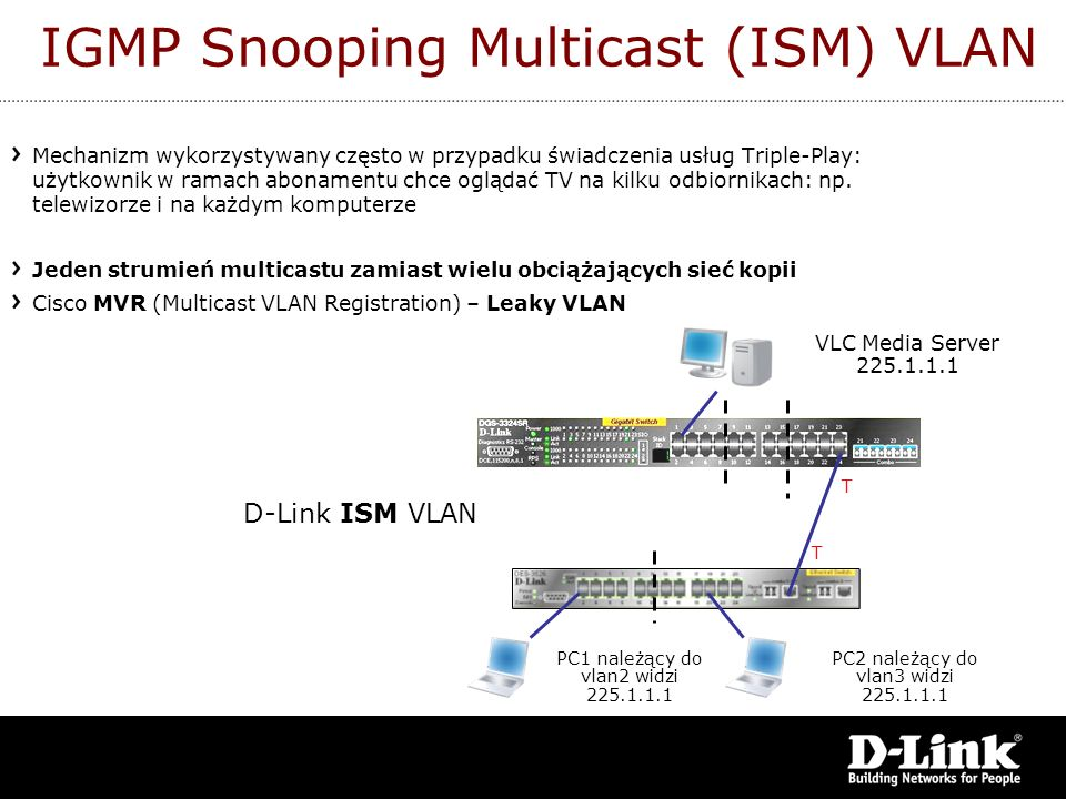 IGMP Snooping Multicast (ISM) VLAN