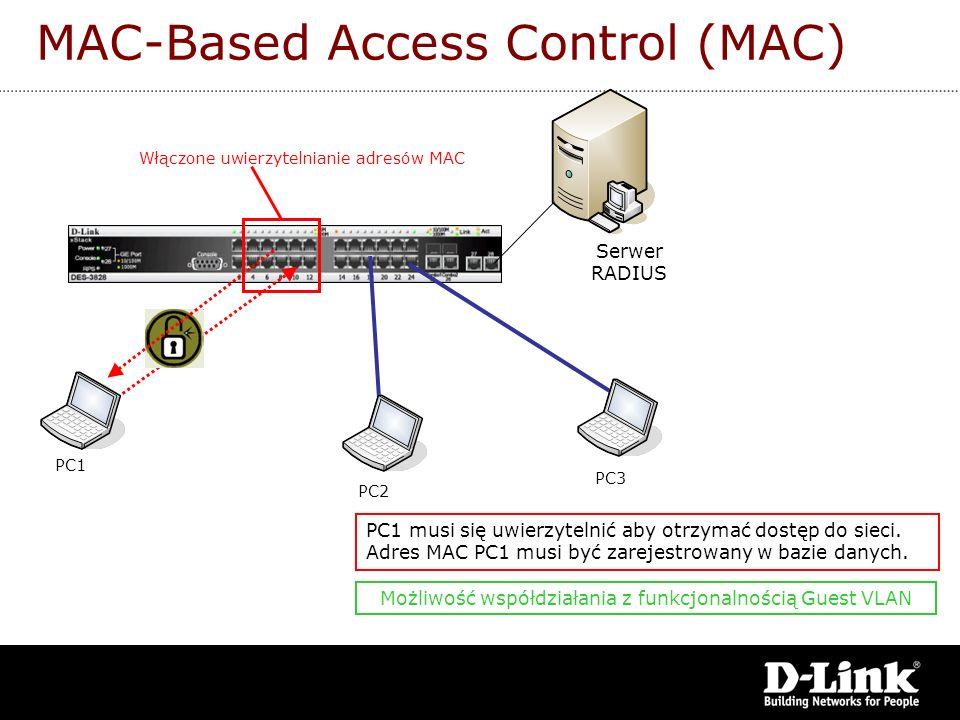 MAC-Based Access Control (MAC)