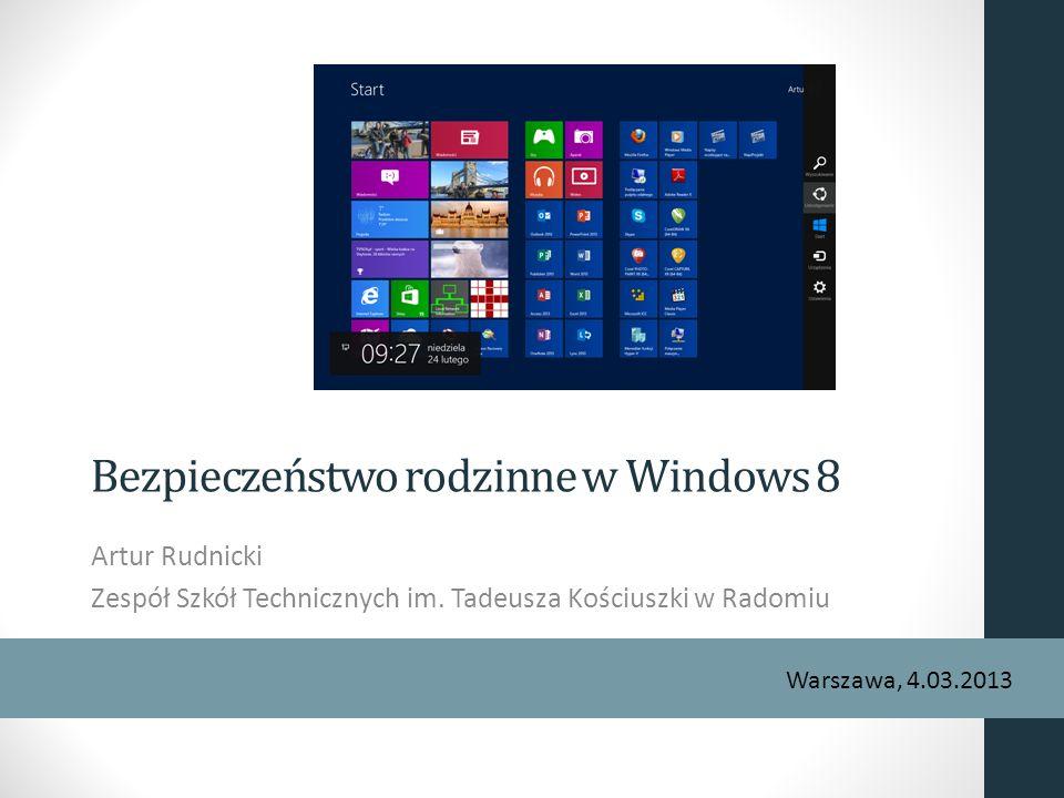Bezpieczeństwo rodzinne w Windows 8