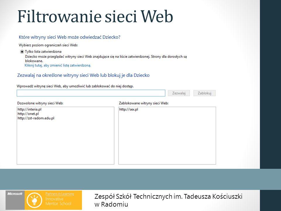 Filtrowanie sieci Web