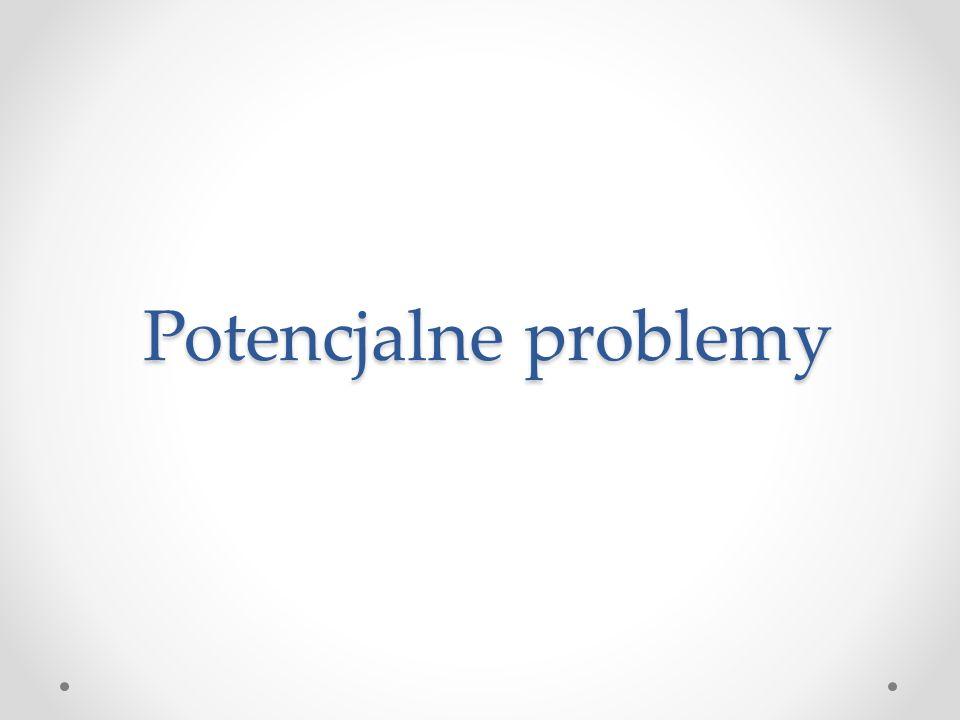 Potencjalne problemy